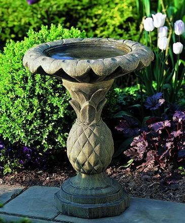 Photo of Campania Pineapple Birdbath - Marquis Gardens