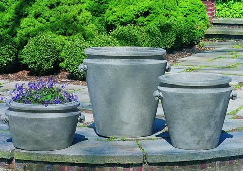 Photo of Campania Scroll Handle Planters - Marquis Gardens