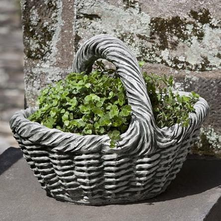 Photo of Campania Small Basket with Handle Planter - Marquis Gardens