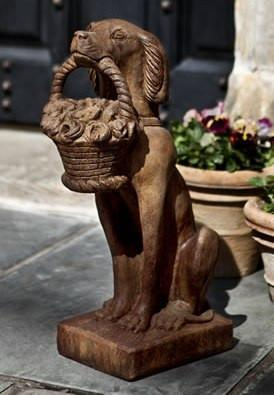 Photo of Campania Vintage Dog With Basket - Marquis Gardens