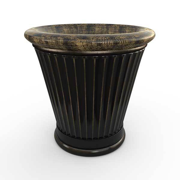 Gardenstone Colonnade Planters Gardenstone Golden Black Small