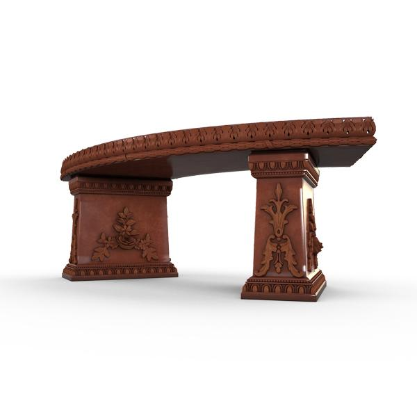 Gardenstone Cotillion Bench Benches Gardenstone Rust Curved