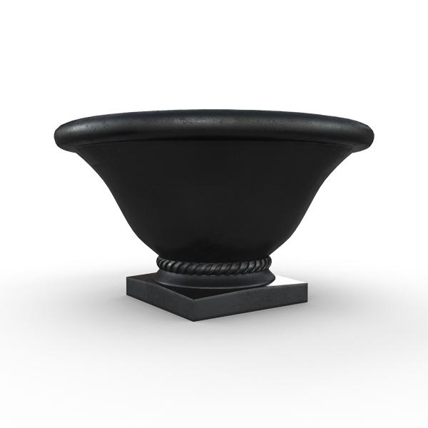 Gardenstone Madison Planters Gardenstone Etched Black