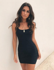 Stylish Fashion Women Sexy Bodycon Sleeveless Evening Party Club Short Mini  Dress Ladies Skinny Summer Solid Color Slim Dresses 6d95ca417