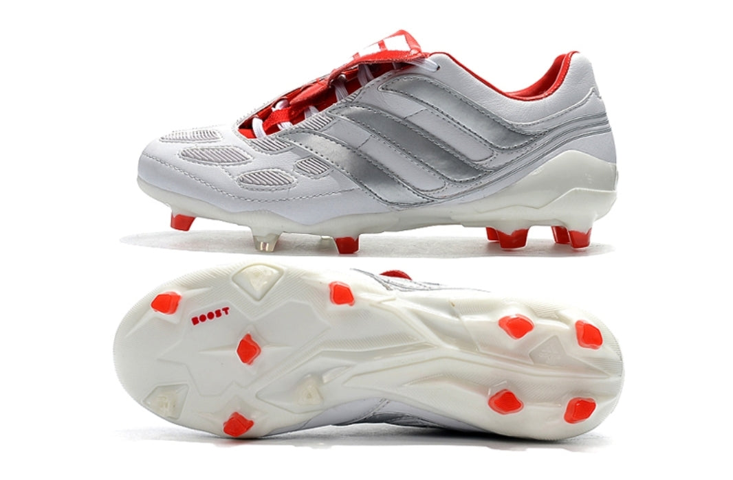 Incentivo Espolvorear Meseta  Adidas Predator Precision DB Icon FG/AG - White/Silver Metallic/Red –  CLEATS4PROS™