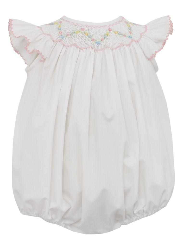 Angel Wing Smocked Bubble