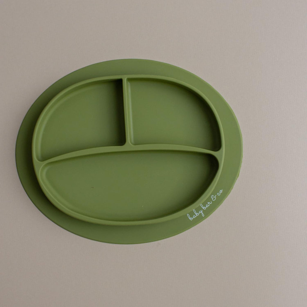 Army Green Silicone Suction Plate