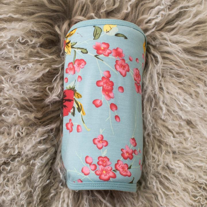 Bestaroo: Teal Cherry Blossom Swaddle