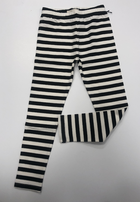 Black & White Striped Legging