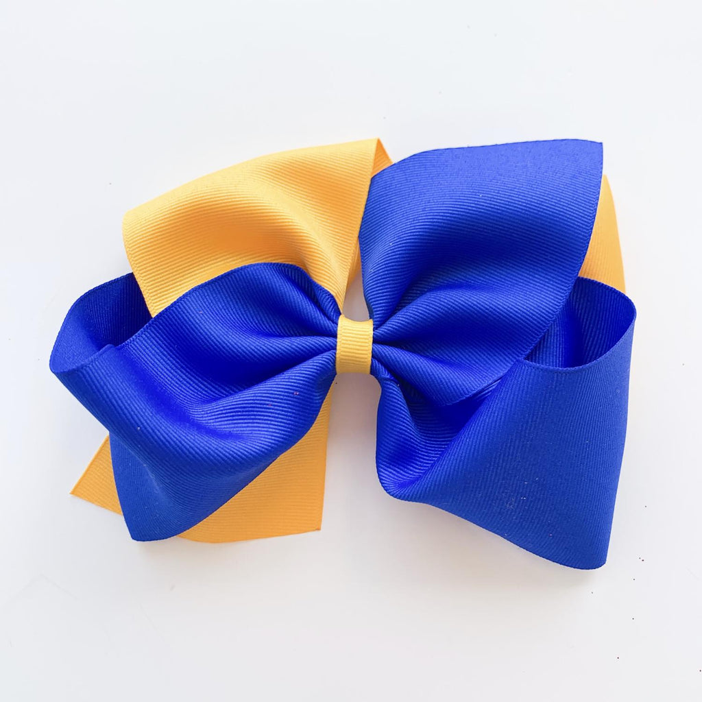 Blue & Gold Bow