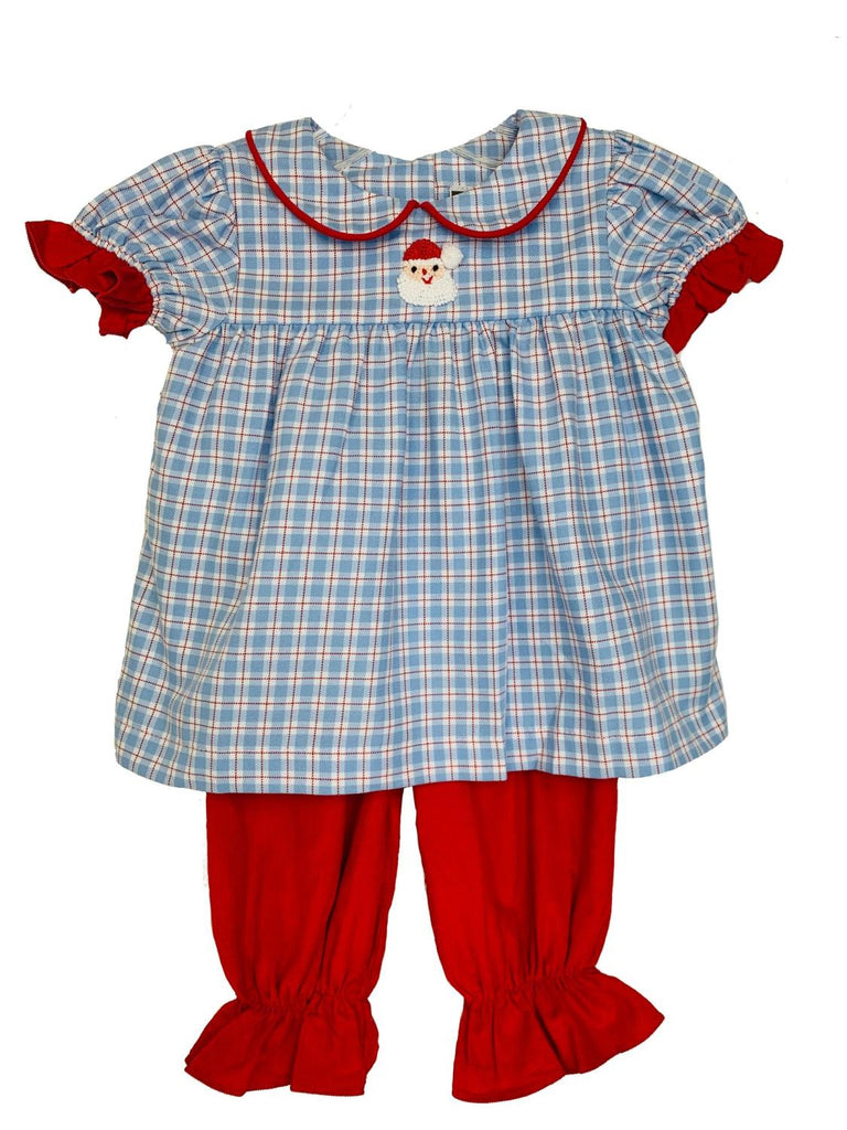 Blue Plaid Santa Set