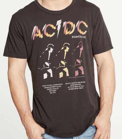 Chaser: Recycled Vintage ACDC Powerage Graphic