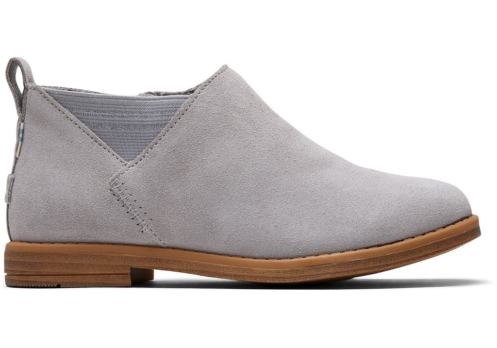 Youth Drizzle Grey Suede Leilani Booties