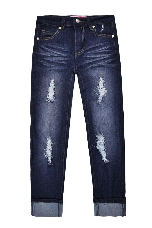 Midnight Blue Distressed Jeans