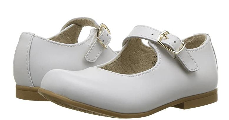White Laura Mary Janes