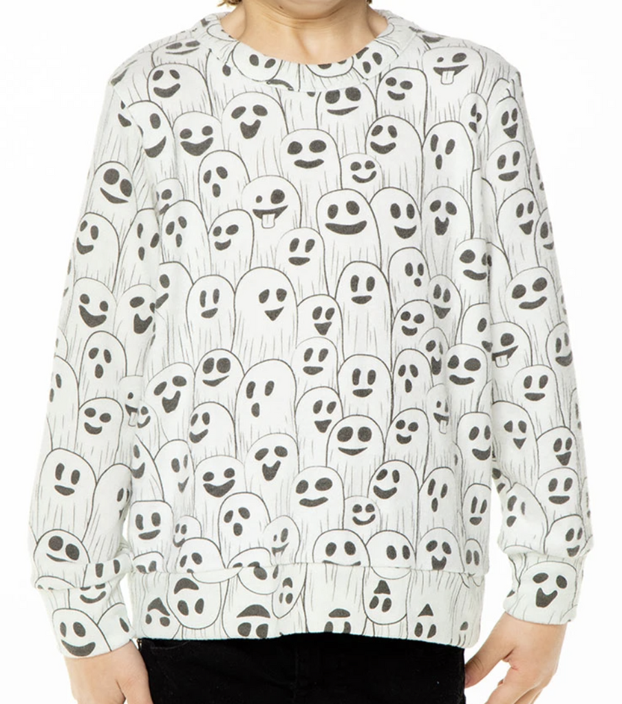 Ghostly Knit Long Sleeve Pullover