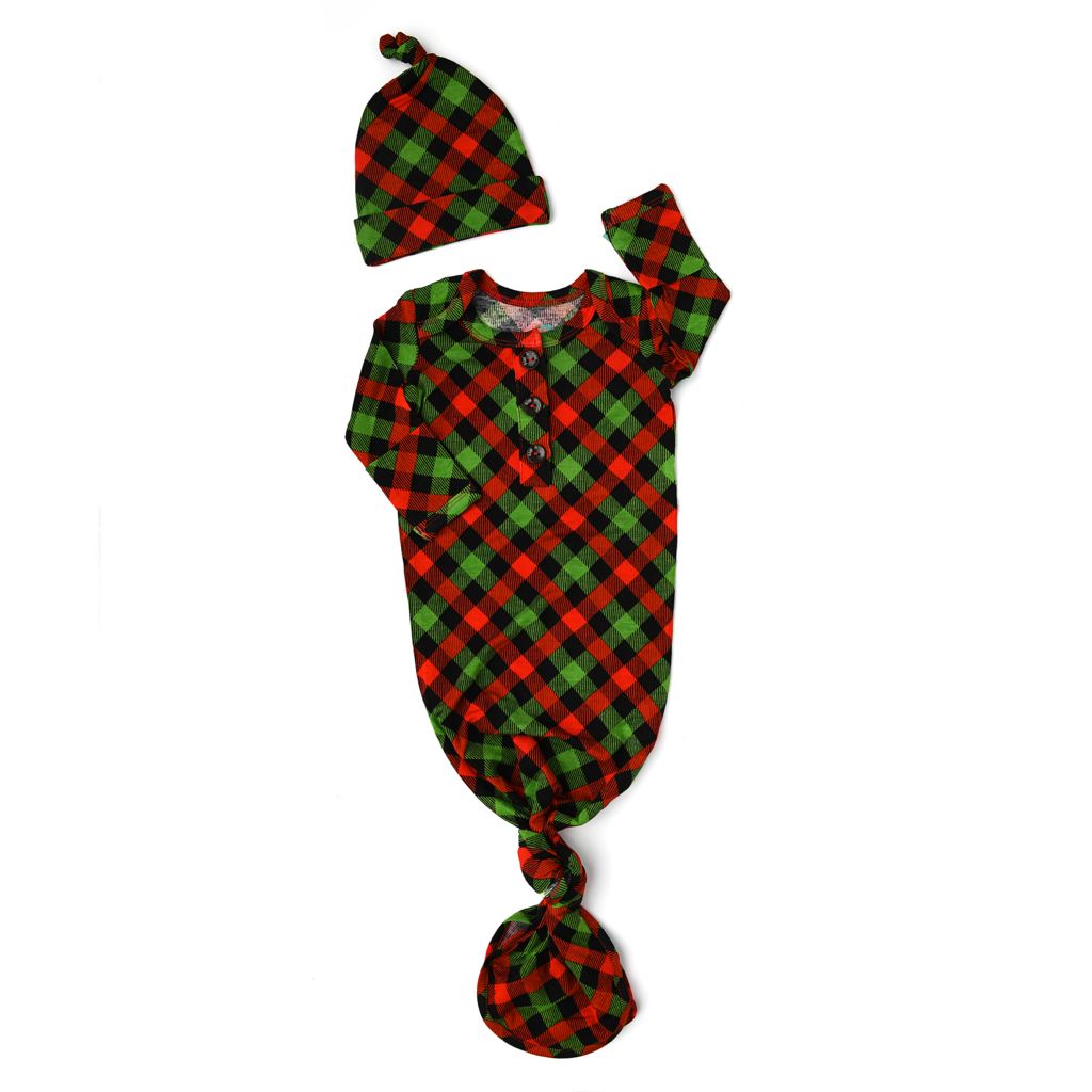 Gigi and Max: Paxton Plaid Gown Set
