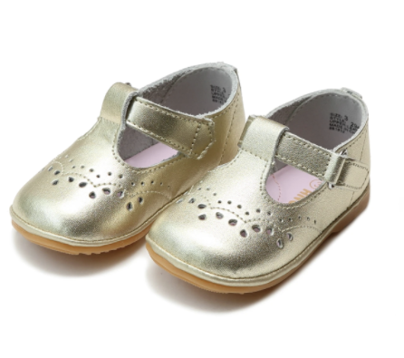 Gold Birdie Toddler T-Strap