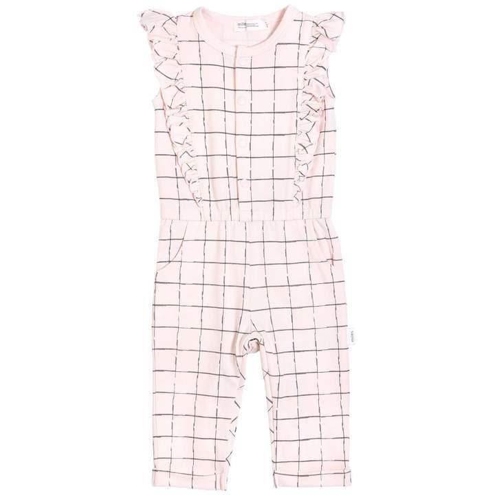 Grid Sleeveless Playsuit
