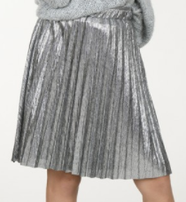 Gun Metal Pleated Skirt