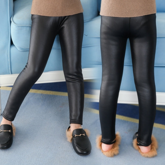 Faux Leather Lined Leggings