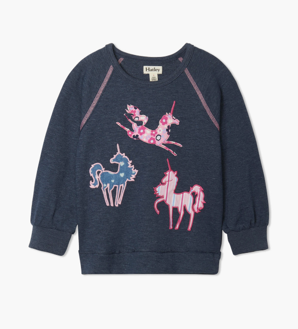 Hatley: Patterned Unicorn Pullover
