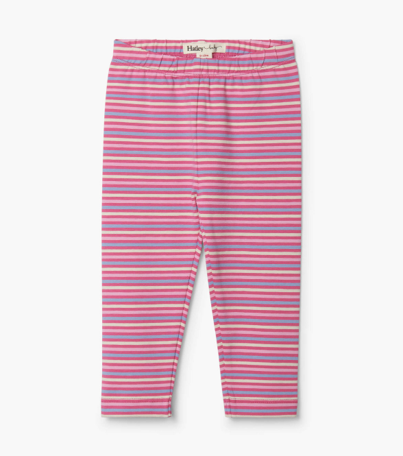 Hatley: Rose Stripe Leggings