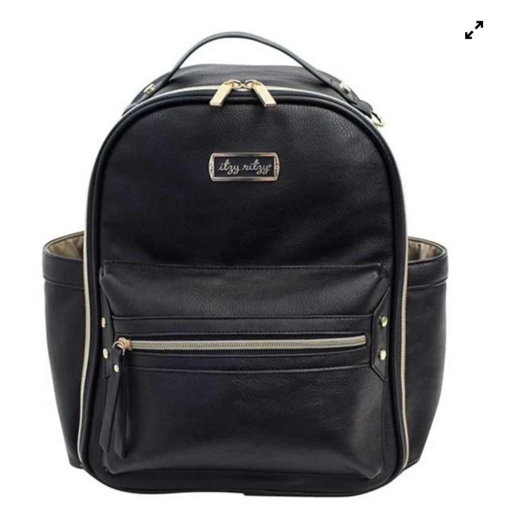 Itzy Ritzy: Black Mini Backpack