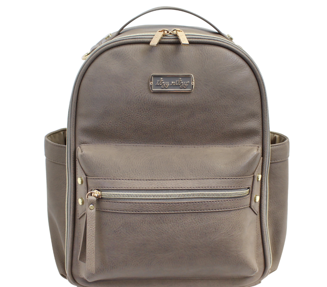 Itzy Ritzy: Taupe Mini Backpack