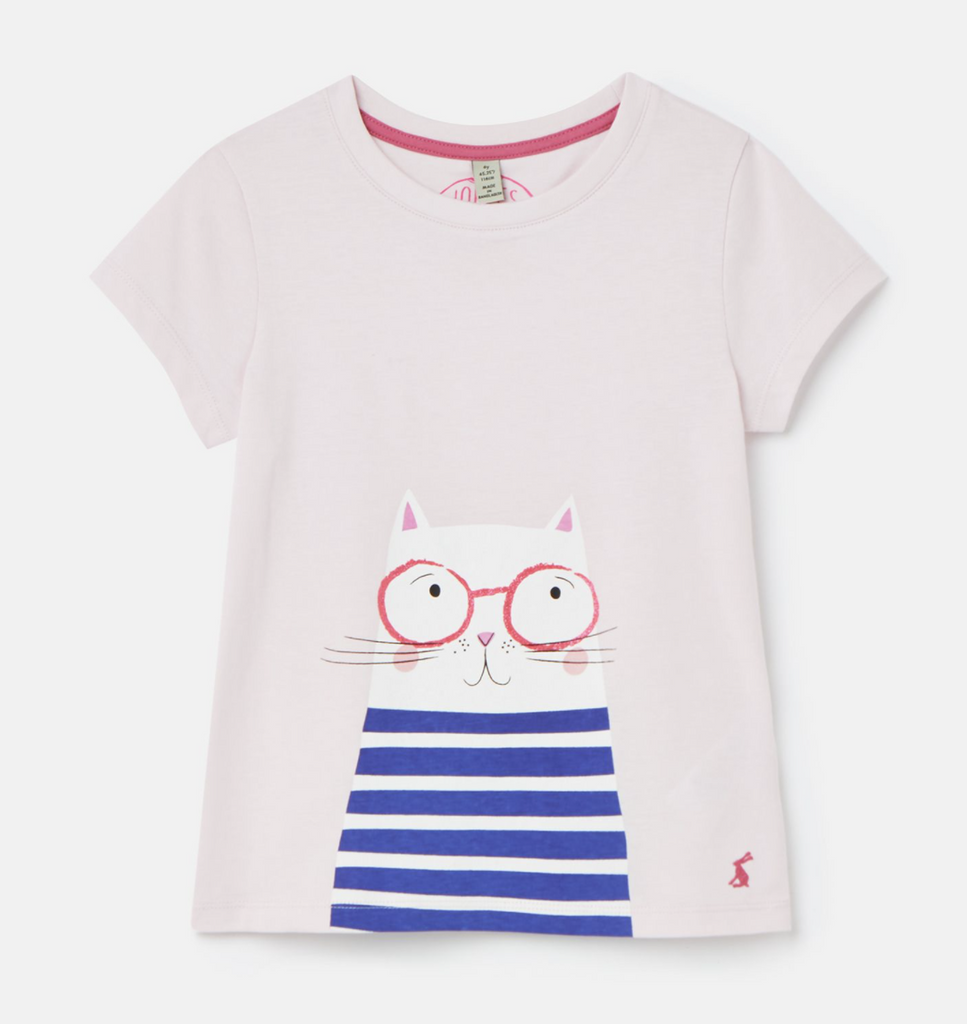 Joules: Pink Cat Shirt