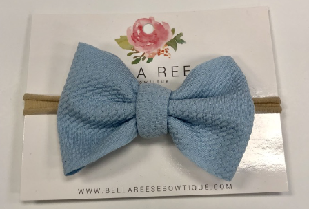 Light Blue Baby Bella Bow