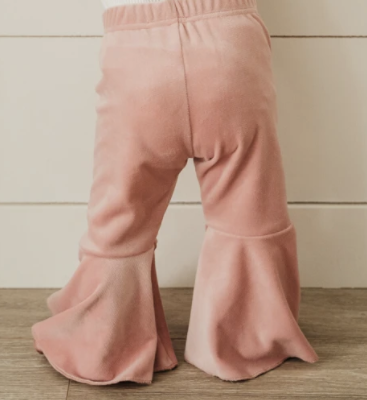 Lollipop Pink Velvet Bell Bottoms