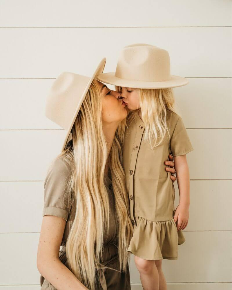Mommy & Me Flat Brim Hat Set