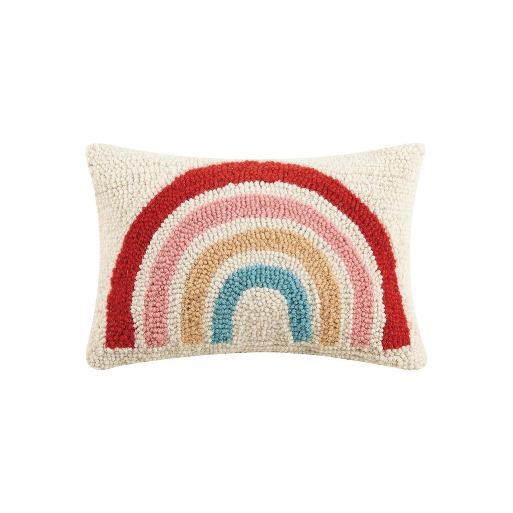 Muted Rainbow Hook Pillow