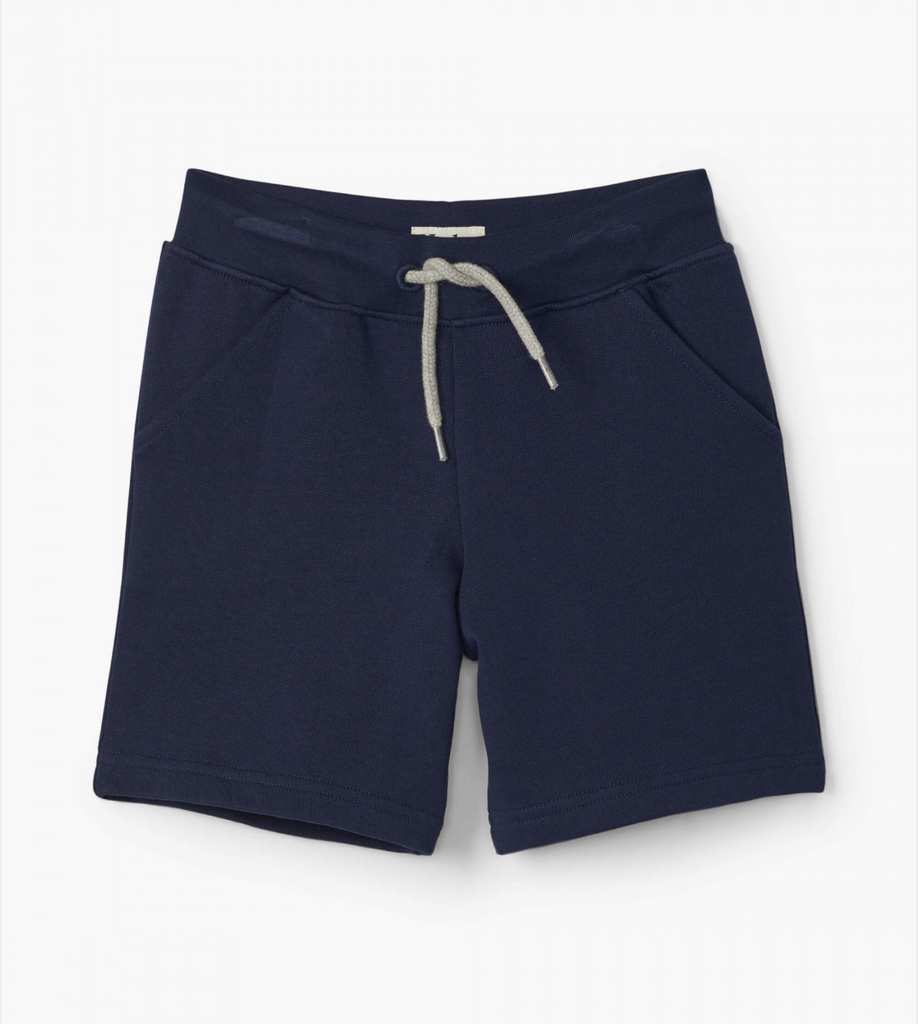 Navy Terry Shorts