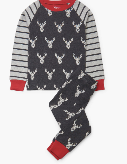 Hatley: Patterned Stags PJ Set