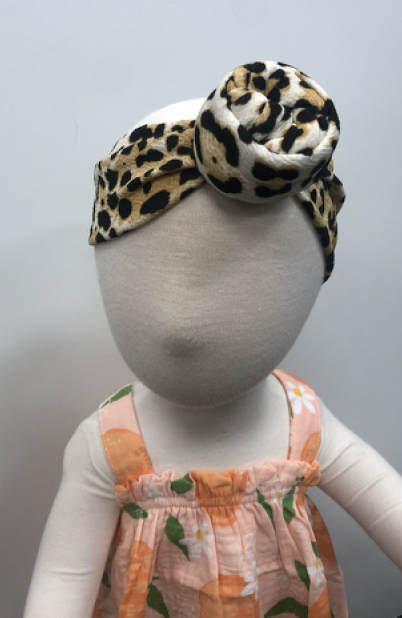 Petite Ivory Leopard Top Knot