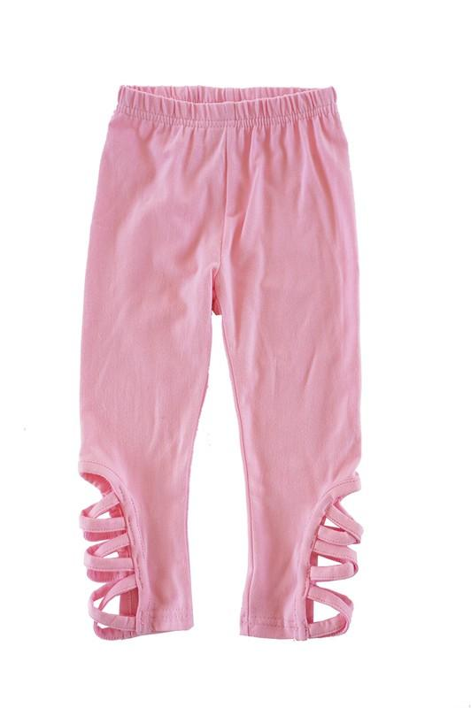 Pink Hollow Out Leggings