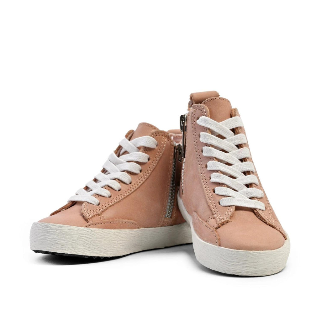 Piper Finn: Blush High Top Sneakers