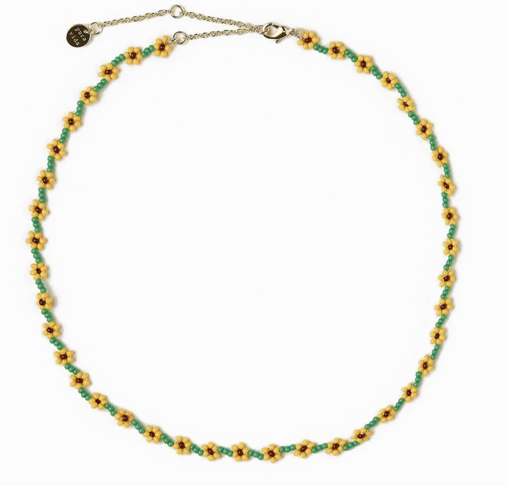 Pura Vida: Sunflower Chain Choker Necklace