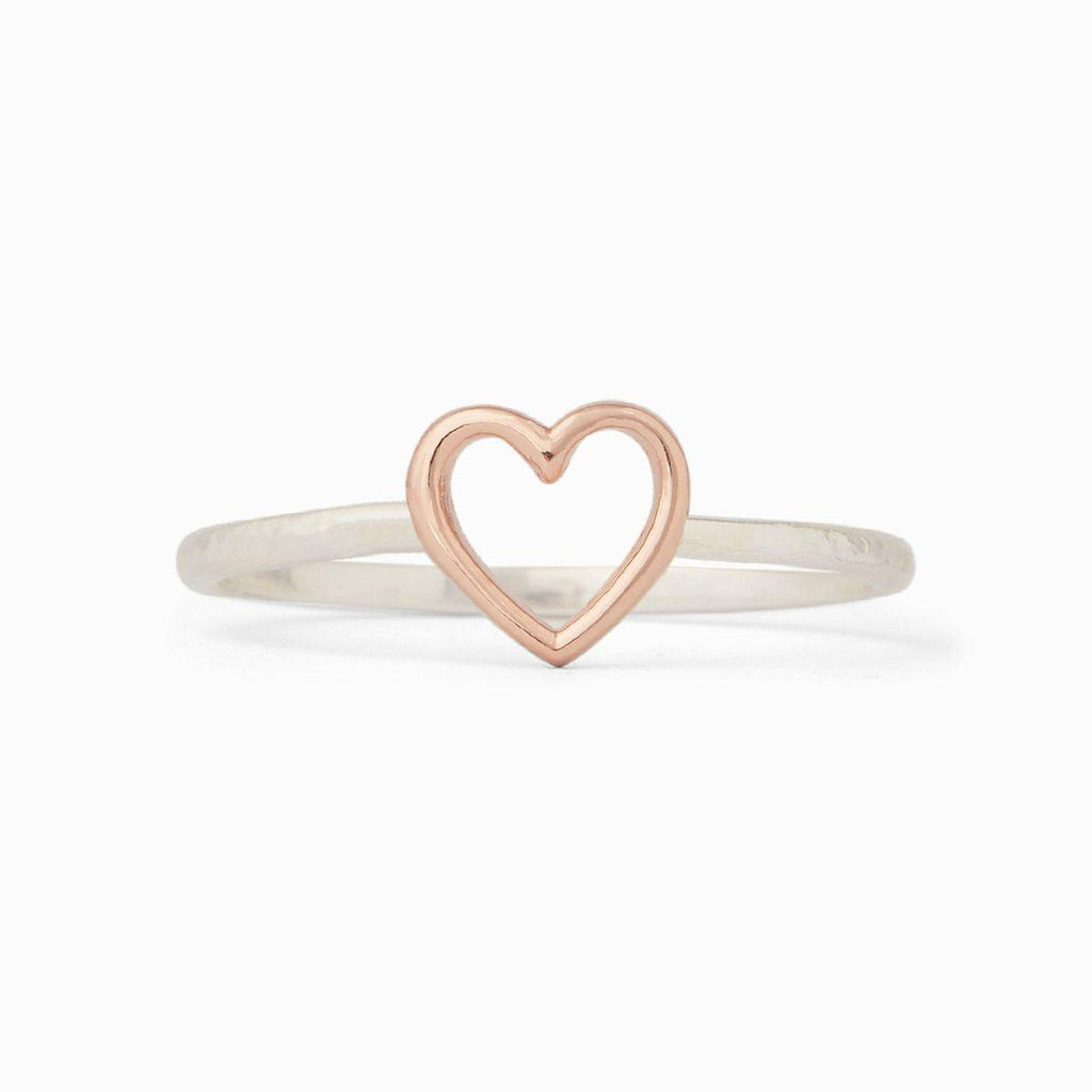 Pura Vida: Silver Open Heart Ring
