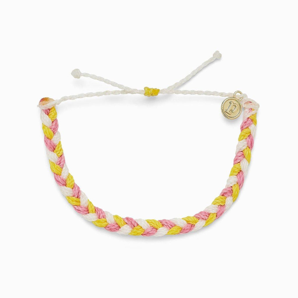 Pura Vida: Strawberry Lemonade Braided Bracelet