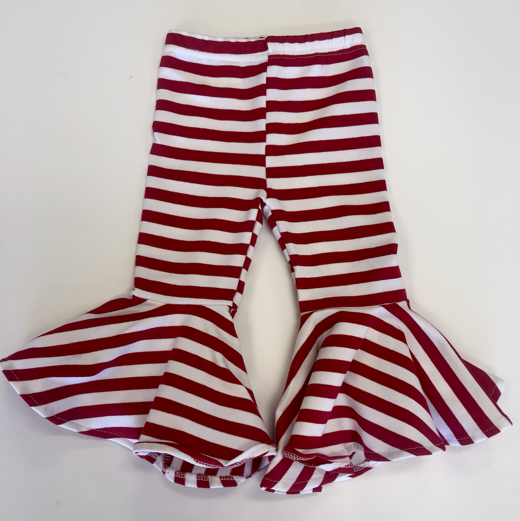 Red & White Striped Bell Bottoms