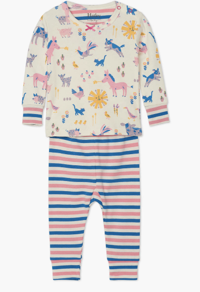 Hatley: Retro Farm Baby PJ Set