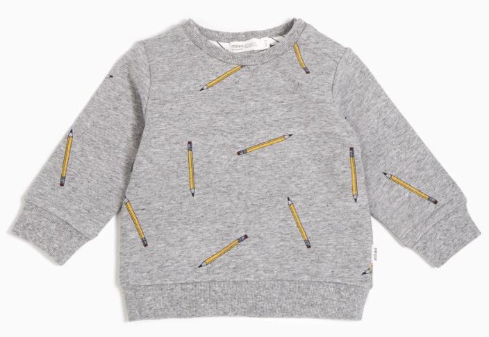 School Pencils Crew Neck Sweater