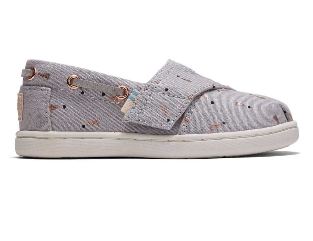TOMS: Grey Exclamation Espadrilles