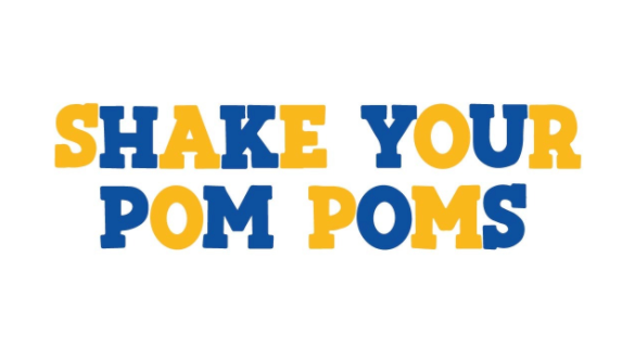Shake Your Pom Poms - Blue & Yellow