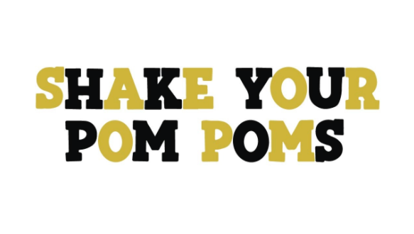 Shake Your Pom Poms - Black & Gold