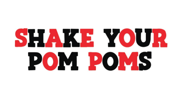 Shake Your Pom Poms - Red & Black