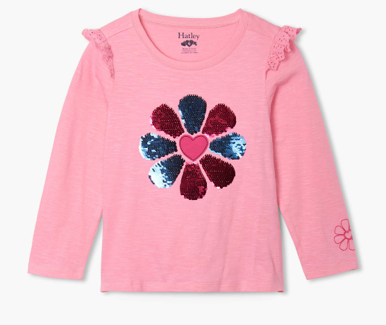 Patchwork Flower Long Sleeve Tee